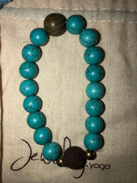 Chakra jewelry, tigers eye, turquoise, lava beads, throat chakra