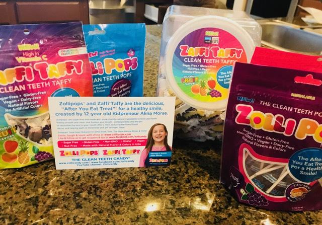 Healthy lollipops, children, teeth, yummy treat,Zaffi Taffy, Zollipops, Healthy Candy, Giveaway, Alina Morse, Gluten-Free candy, vegan candy, lollipops, organic