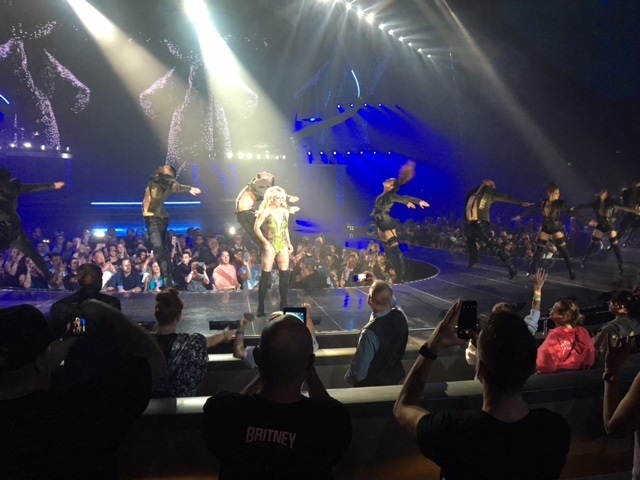 britney spears concert, las vegas, planet hollywood, work bitch, queen of pop