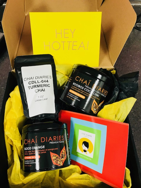 chai diaries tea, rooibos, blood orange, specialty teas, relaxation, cup of tea