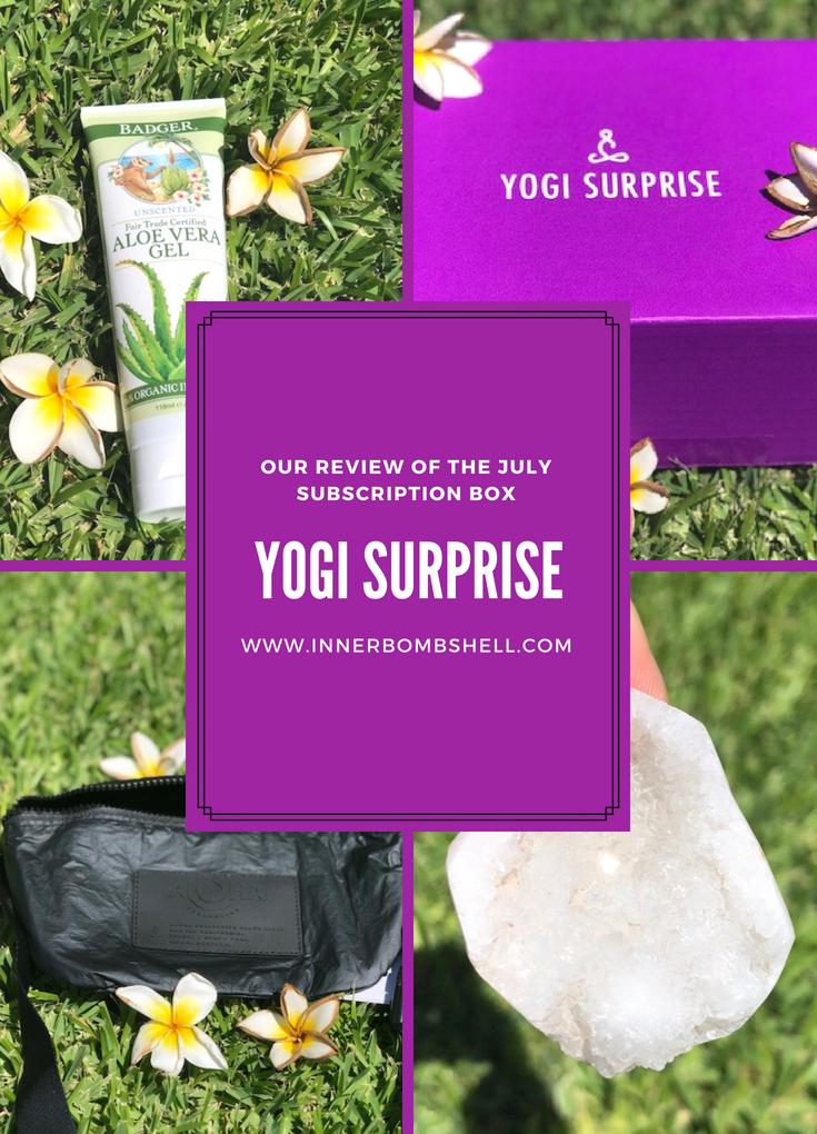 Yogi Surprise July's Subscription Box Review