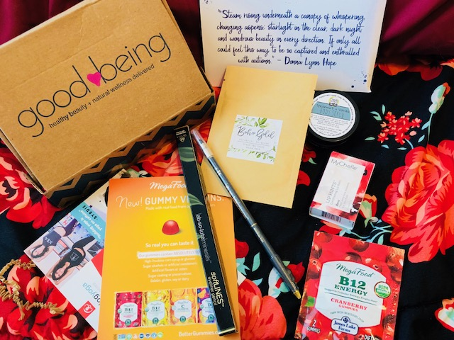 Good being Box, Monthly Subscription Box, Wellness and Beauty, Natural, Organic, Lip Balm, Hair Care, Face Masks, Yoga